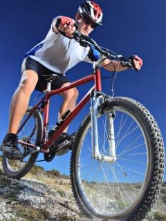 Картинка велосипедист (Cyclist) 240x320 на телефон