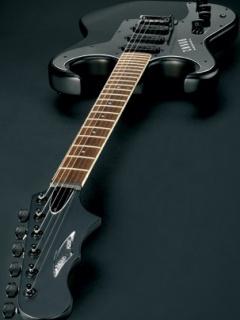 Картинка черная гитара (black guitar) 240x320 для смартфона