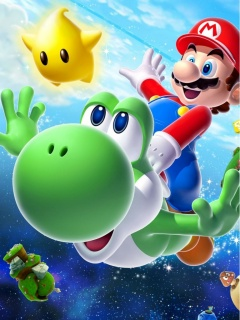 Картинка Super Mario Galaxy 2 240x320 бесплатно