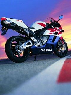Картинка мотоцикл Хонда (Honda motorbike) 240x320 бесплатно