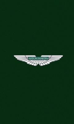 Картинка логотип Астон Мартин (Aston Martin logo) 240x400 скачать для смартфона