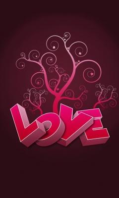 Картинка дерево любви (Love tree) 240x400