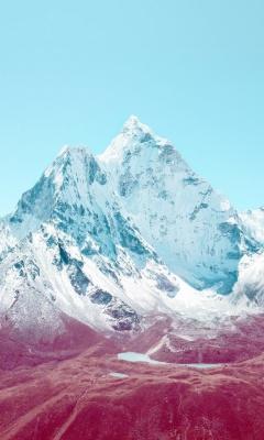 Картинка снежная гора (snow Mountain) 240x400 скачать