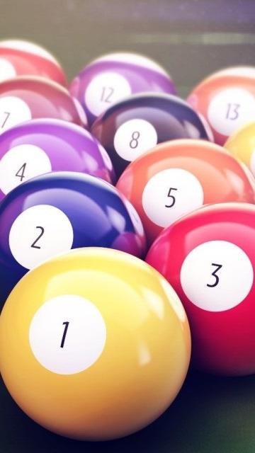 Картинка бильярдные шары (billiard balls) 360x640 скачать