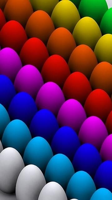 Картинка разноцветные яйца (Colorful Eggs) 360x640 для телефона