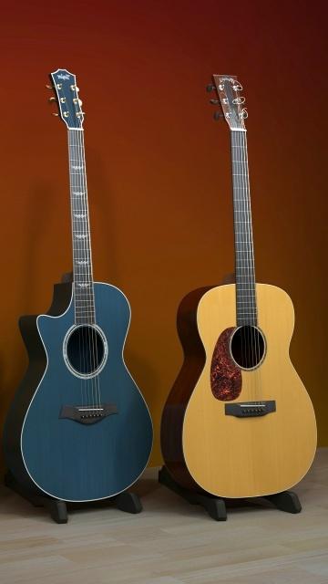 Картинка две гитары (two guitars) 360x640 для телефона
