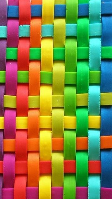 Картинка разноцветные линии (Colorful Lines) 360x640 для смартфона