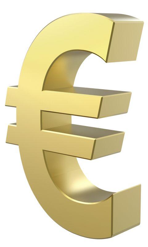 Картинка золотой евро (Golden Euro) 480x800 для смартфона