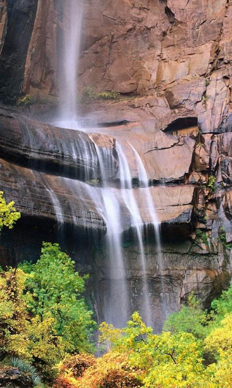 Картинка водопад (waterfall) 480x800 для телефона
