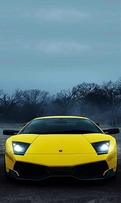 Картинка желтый Ламборгини (yellow Lamborghini) 480x800 скачать