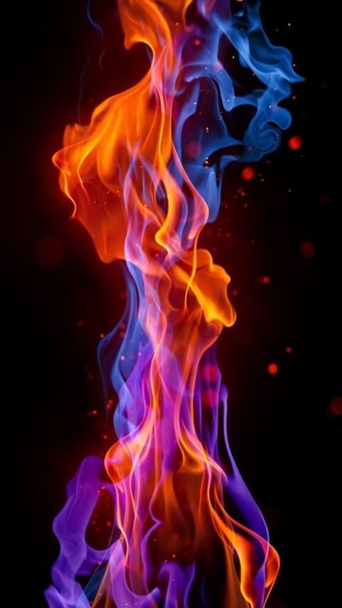 Картинка пламя огня (flames of fire) 480x854 скачать бесплатно