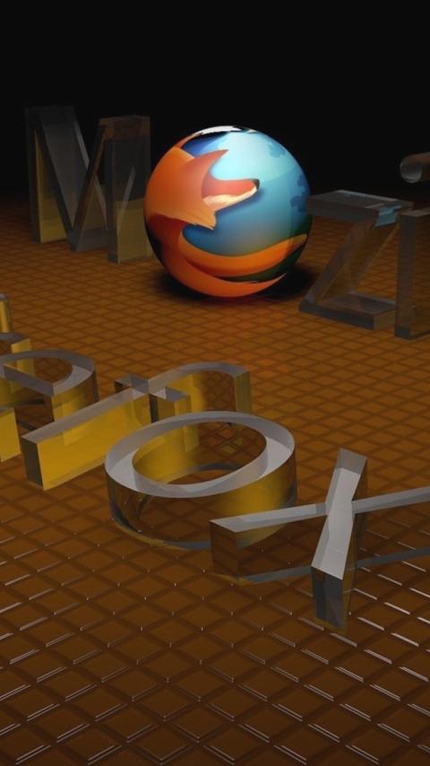 Картинка логотип Фаерфокс Мозила (Firefox Mozilla Logo) 480x854 для телефона скачать