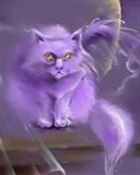 Картинка фэнтези кот 128x160
