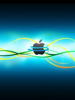 Картинка Apple emblem 240x320
