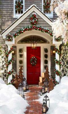 Картинка рождественское крыльцо 240x400