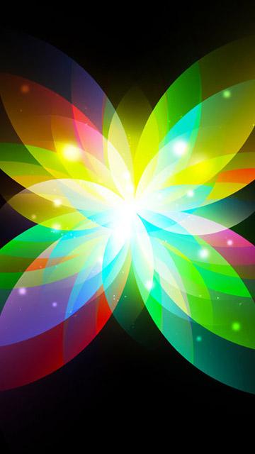 Картинка Colorful abstract flower 360x640