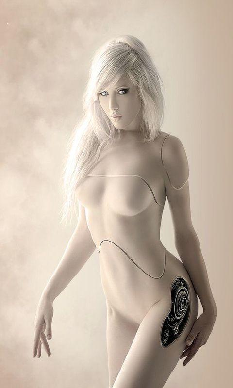 Картинка robot girl 480x800