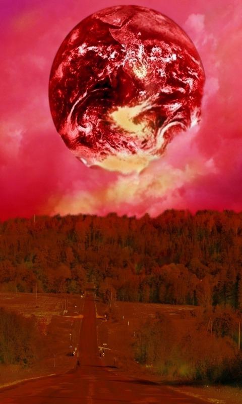 Картинка красная планета 480x800