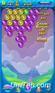 Игра Bubble bust! Popping planets на Android