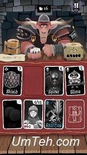 Игра Карточное подземелье (Card crawl) на планшет