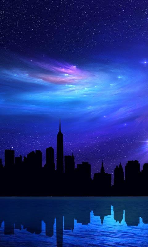 Картинка небоскребы, чикаго, chicago, город, небо, высотки, ночь, абстракция 480x800