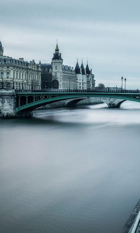 Картинка Париж, lue conciergerie, город, река, Франция 480x800 для смартфона