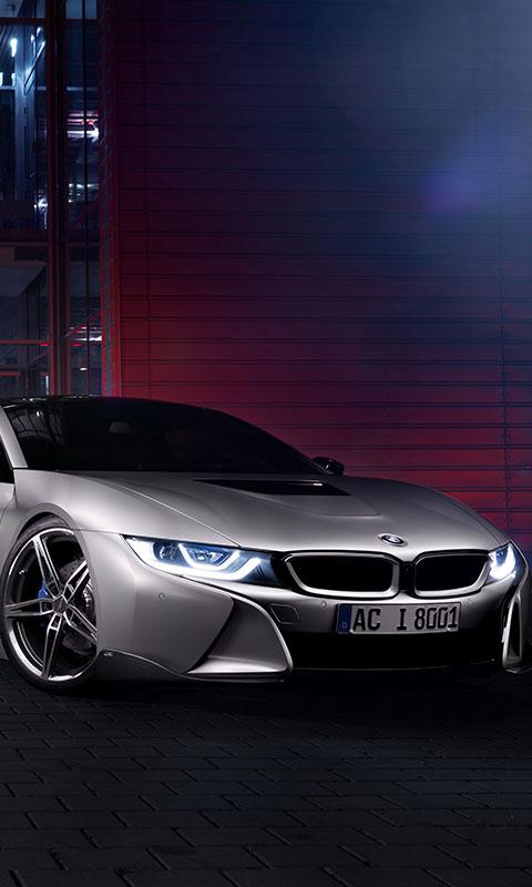 Картинка BMW, бмв, I12, 2015, серый, фары, AC Schnitzer 480x800
