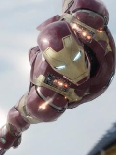Картинка Первый мститель: Противостояние, железный человек, полет, кино, фильм, disney, марвел, 2016, фантастика 240x320
