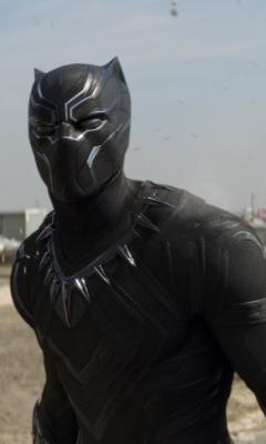 Обои черная пантера, супергерой, мстители: гражданская война.