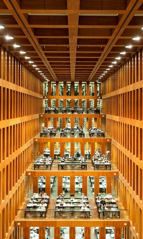 университет Гумбольдта, библиотека, Берлин, Германия 480x800 картинка