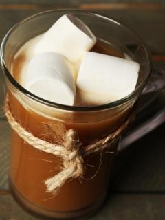 картинка Cup, chocolate, шоколад, marshmallow, какао, hot, зефир, cocoa 240x320