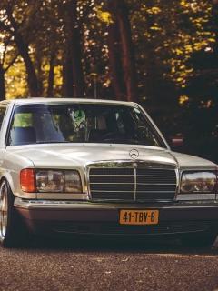 Mercedes-Benz, stance, w126 240x320 обои