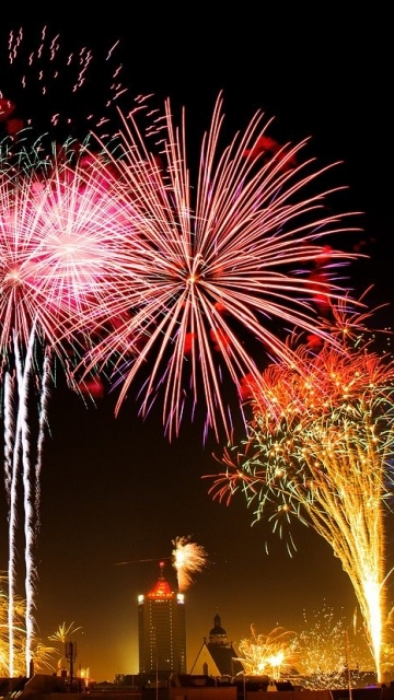 канун Нового Года, фейерверк, маяк, ракета, свет, праздник, красочный, черный, новогодние поздравления, ночью
