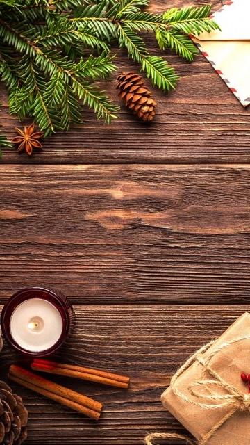 Рождество, Новый год, открытка, рождественские украшения, подарок, праздник, деревянные, шишки, макет, бесплатные фотографии скачать