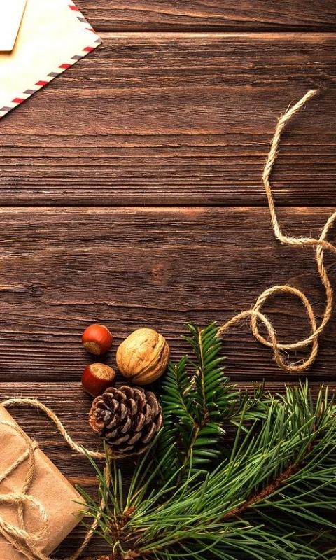 Рождество, Новый год, открытка, праздник, деревянные, шишки, рождественские украшения, подарок, макет бесплатно