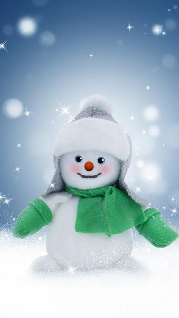 Снеговик, снег, зима, рождество, блестящий, холодный, игрушка, новый год, б ...