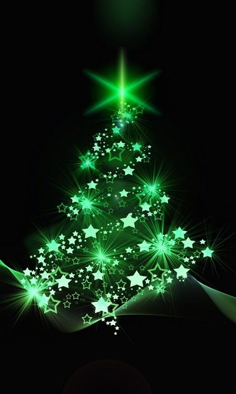 Скачать 480x800 новогодняя елка, рождество, новый год, арт обои, фон nokia x, x2, xl, 520, 620, 820, samsung galaxy star, ace, asus zenfone 4