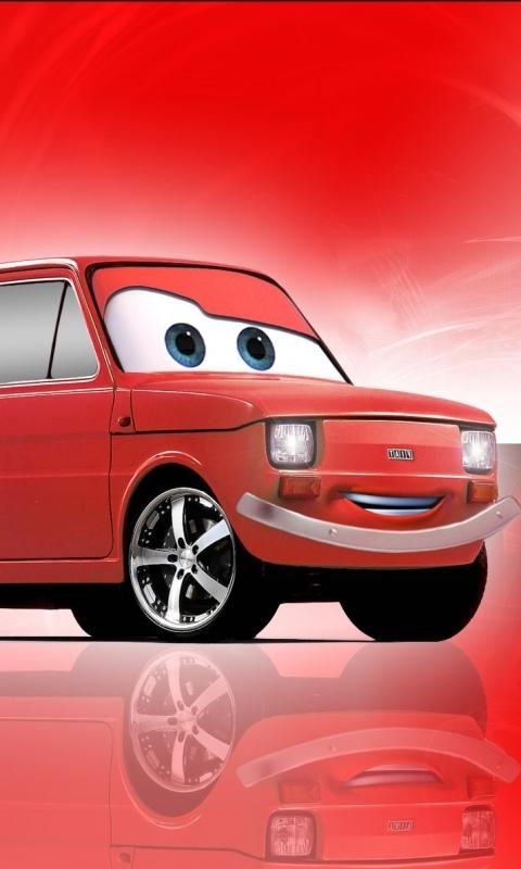 Тачки, Fiat 126p, Малыш, Дисней, Мультфильмы, Автомобили