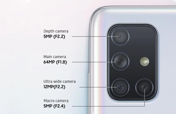 Samsung Galaxy A71 камера